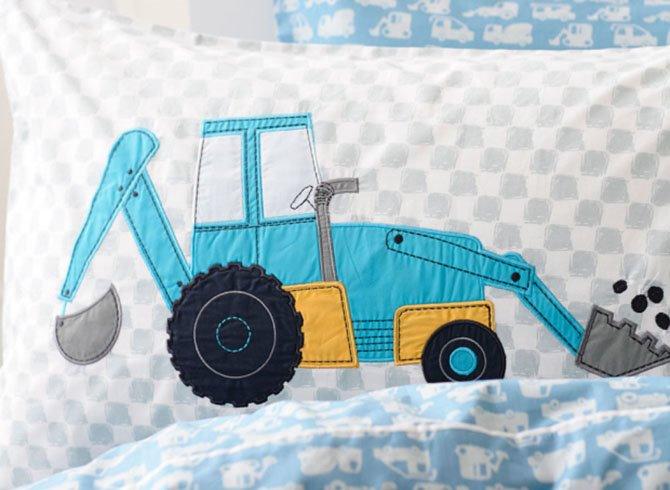Super Cute High Quality Trucks Pattern 3-Piece Duvet Cover Set