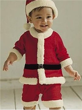 Bouncy Red Lovely Santa Baby Boy Costume