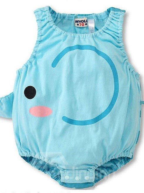 Cute Light Blue Elephant Shape Baby Costume