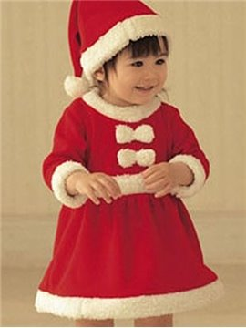 Bouncy Red Lovely Santa Baby Girl Costume