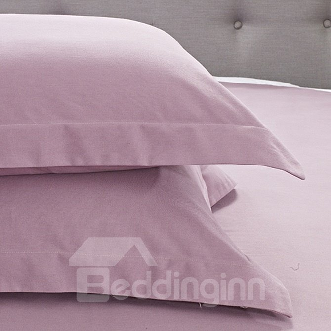 Neat Simple Solid Color 4-Piece Duvet Cover Sets