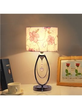 Modern Romantic Flower Pattern 1-Light Table Bedside Lamp