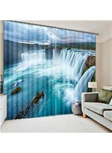 Amazing Waterfall Nature Scenery Printing 3D Curtain