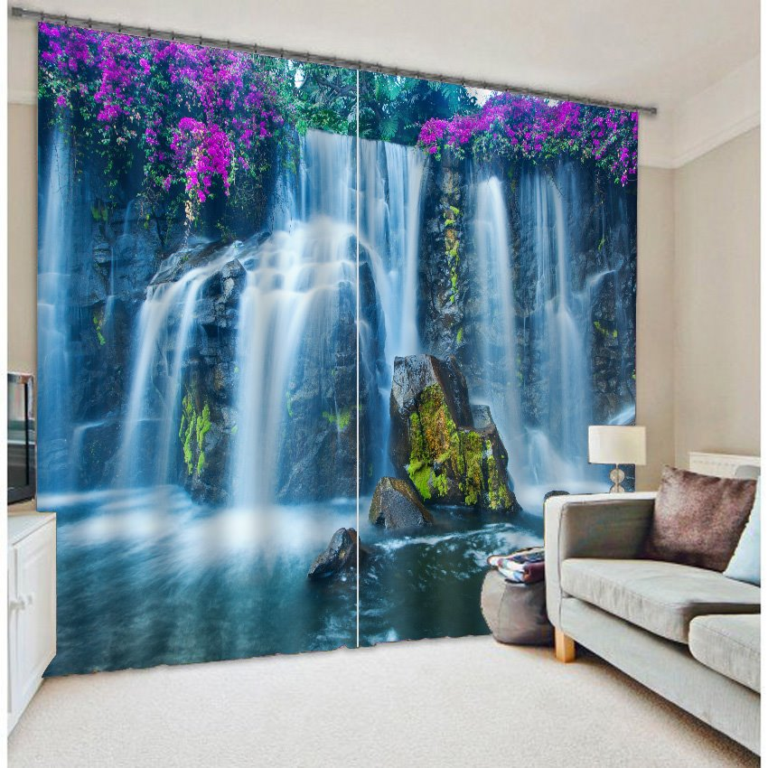 famous huangguoshu waterfalls scenery 3d curtain. Black Bedroom Furniture Sets. Home Design Ideas
