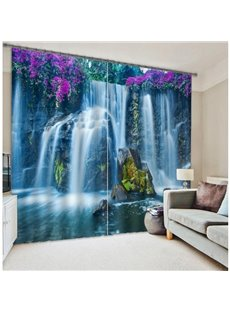 Famous Huangguoshu Waterfalls Scenery 3D Curtain