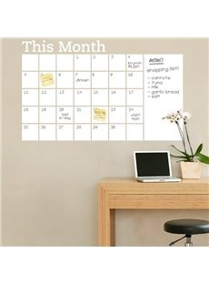 Must-Have Whiteboard Month Planner Memo Removable Wall Sticker