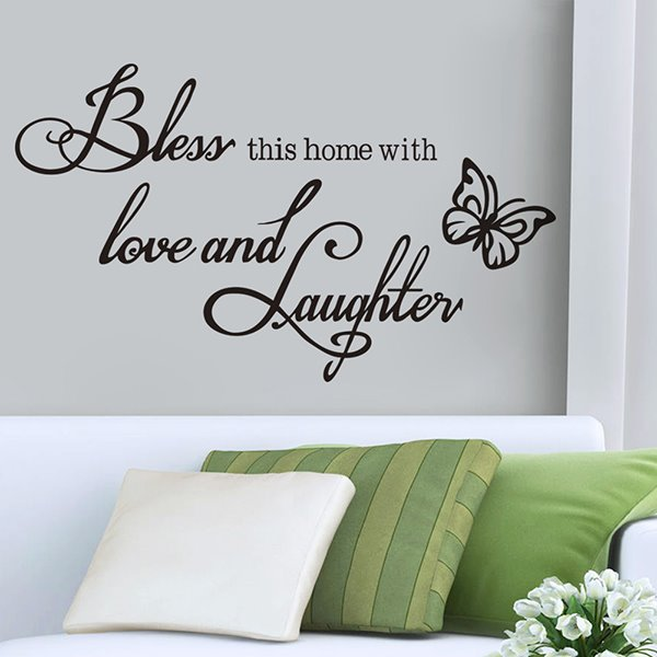 words and quotes bless this home with love and laughter