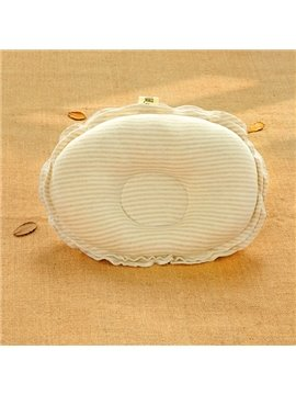 Natural Colored Cotton Stripe Pattern Prevent Flat Head Baby Pillow
