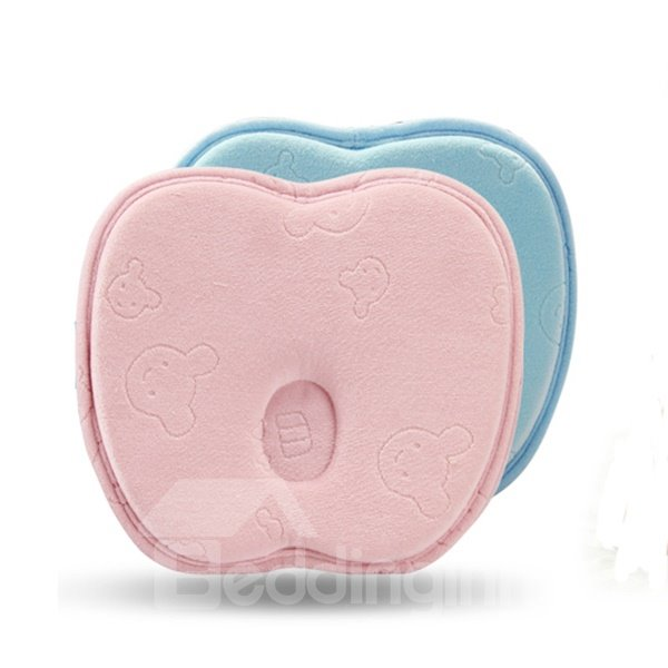 Super Cute Apple Shape Memory Foam Prevent Flat Head Baby Pillow