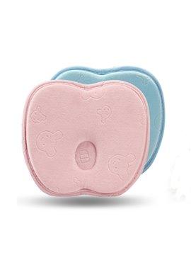 Super Cute Apple Shape Memory Foam Prevent Flat Head Baby Pillow