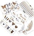 Fabulous Water-Proof Metal Butterfly Feather Letter 1 Set Body Tattoo Sticker