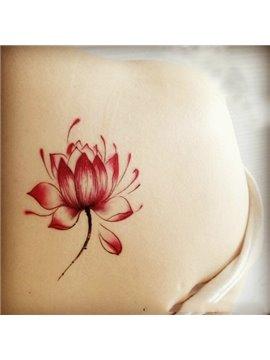 Gorgeous Fashionable Lotus Flower Pattern Body Tattoo Sticker