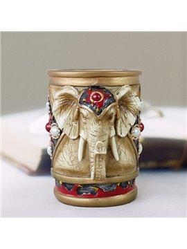 Creative 3D Elephant Design Pen Holder Desktop Decoration