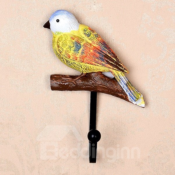 Lovely Birds Design 1-Set Resin Wall Hooks