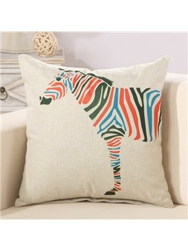 Fashion Colorful Zebra Print Decorative Throw Pillow