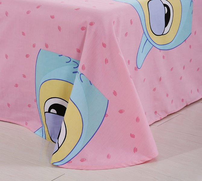 Cute Owl and Crown Print Kids 4-Piece Duvet Cover Set