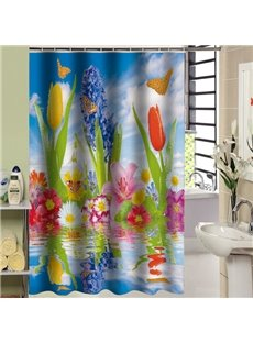 Resplendent Sea of Flowers Design 3D Shower Curtain