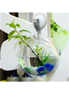 Creative Acrylic Wall Flower Vase Mini Fish Bowl