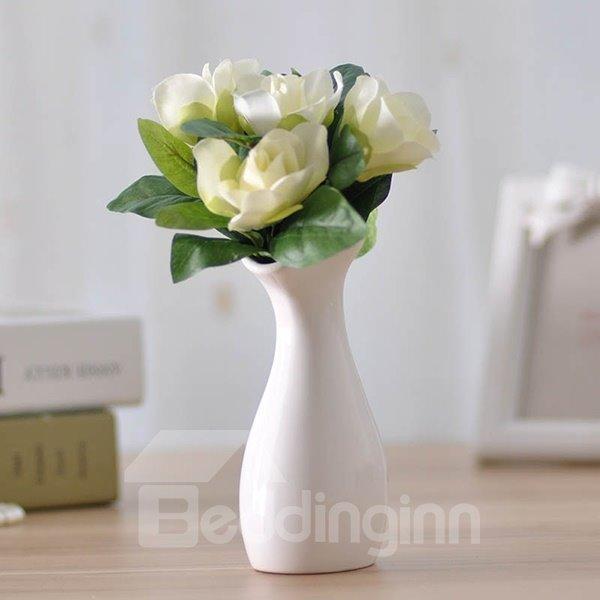 Classic Graceful 2-Color Ceramic Desk Flower Vase