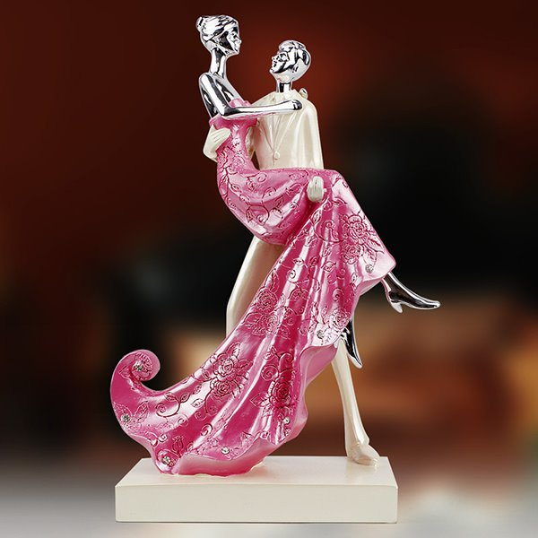 Romantic Resin 4-Color Dancing Lovers Desktop Decoration