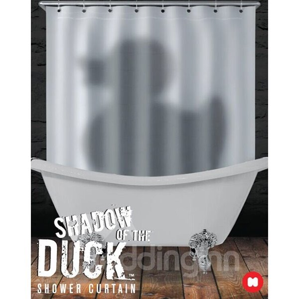 Mysterious Unique Duck Shadow Design Bathroom Shower Curtain