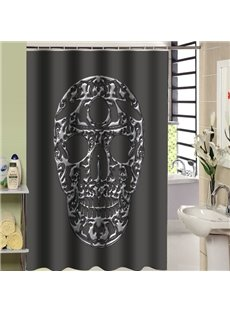 Mysterious Unique Black Skull Design Shower Curtain