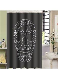 Mysterious Unique Black Skull Design Shower Curtain