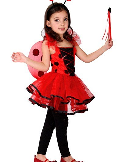 Classic Lovely Ladybird Shaped Girl