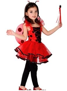 Classic Lovely Ladybird Shaped Girl' Halloween Costume