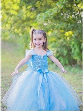 Cinderella Style Light Blue Princess Dress Girl' Costume