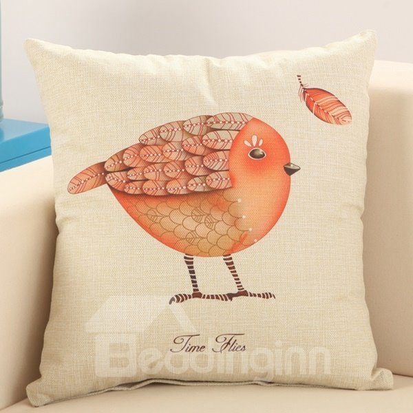 European Pastoral Style Bird Print Cotton & Linen Throw Pillow - beddinginn.com
