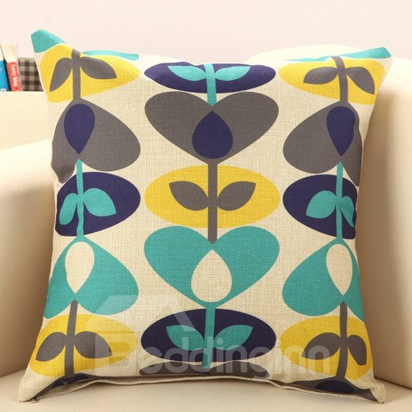 Fresh Grass Print European Style Throw Pillow