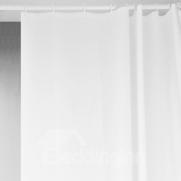 New Arrival Stunning Pure White Shower Curtain