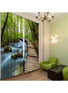 Decoration Forest Trail Printing 3D Curtain