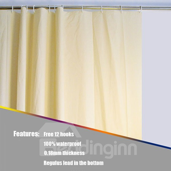 New Style Pure Unique Waterproof Shower Curtain