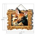 Vivid Deer in Wall Photo Frame Removable 3D Wall Sticker