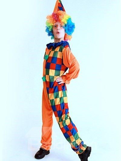 Colorful Humorous Cheerful Clown Kids Halloween Costume