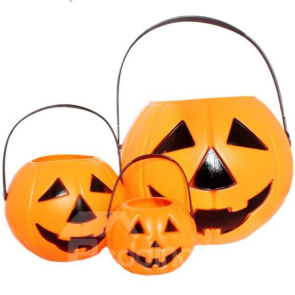 Large Size Pumpkin Bucket Halloween Decoration