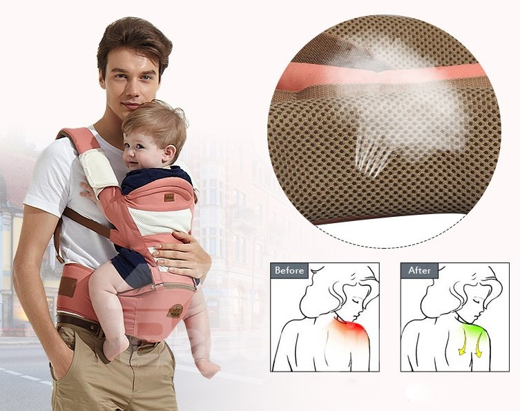 Comfortable Big Capacity Multi-Functional Baby Hipseat Carrier