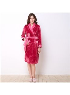 Top Selling Winter Coral Velvet Women' s Bathrobe