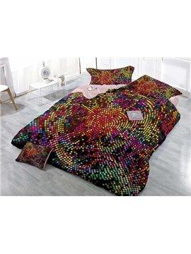 Attractive Colorful Polka Dots Digital Printing 4-Piece Duvet Cover Sets