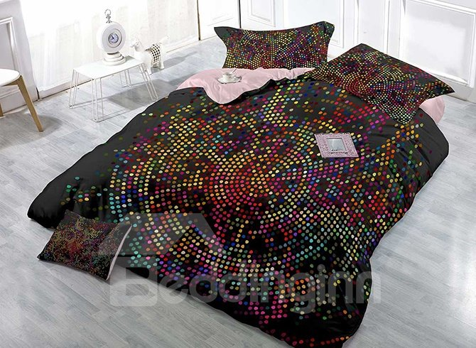 High-Definition Digital Printing Colorful Dots 4-Piece Duvet Cover Sets 11465147