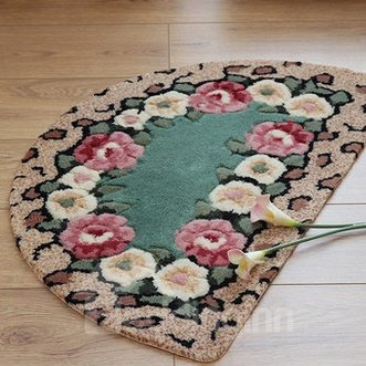Glamorous Rose Design Water Absorption Bath Mats