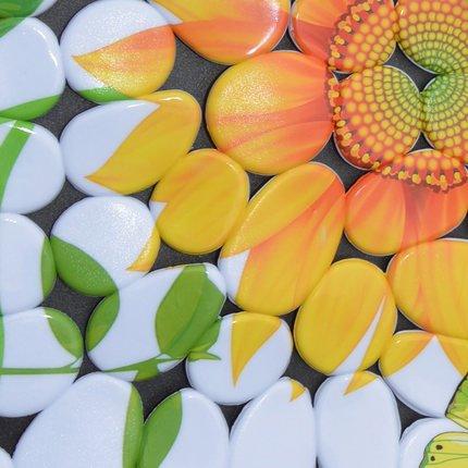 Unique Pretty Sunflower Print Skid-resistant Bath Mats