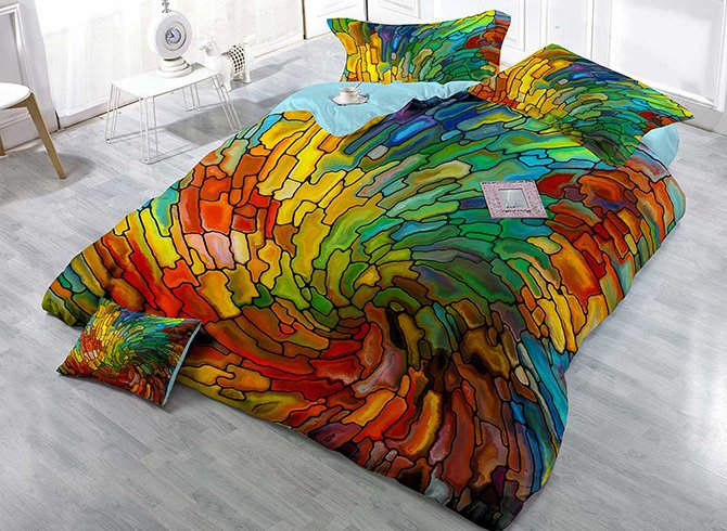 Colorful Vortex Digital Printing 4-Piece Duvet Cover Sets 11465159