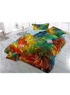 Colorful Vortex Digital Printing 4-Piece Duvet Cover Sets