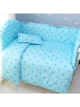 Bouncy Cotton Polka Dot Pattern 9-Piece Baby Crib Bedding set