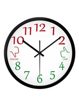 Creative Metal Thumb Up Thumb Down Like Dislike Mute Wall Clock