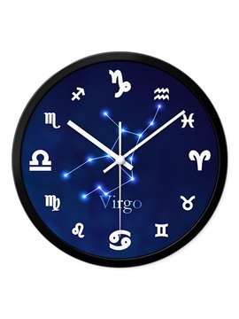Virgo Twelve Star Sign Mute Wall Clock