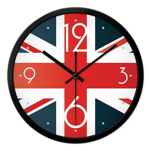 Classic British National Flag Union Jack Mute Wall Clock